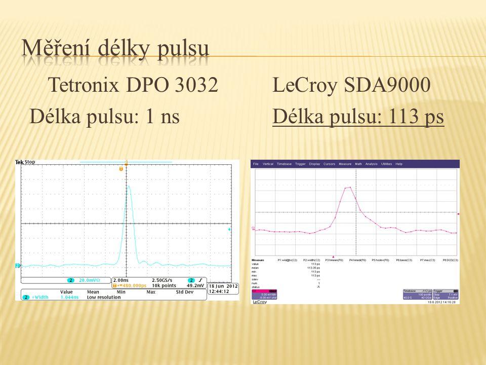 Tetronix DPO 3032 LeCroy SDA9000 Délka pulsu: 1 ns Délka pulsu: 113 ps