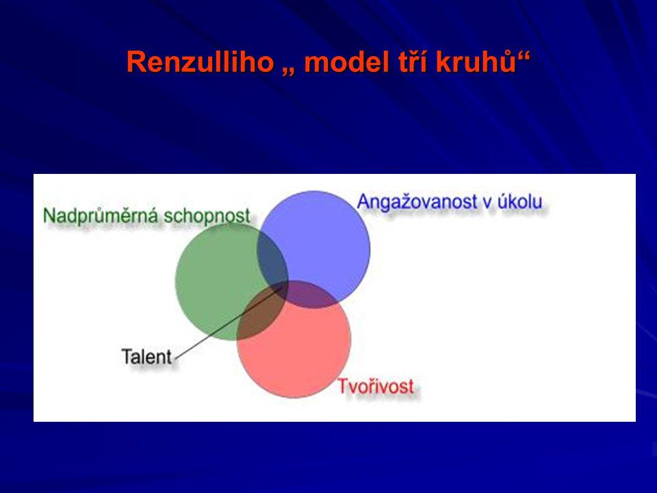 """Renzulliho """" model tří kruhů"""""""