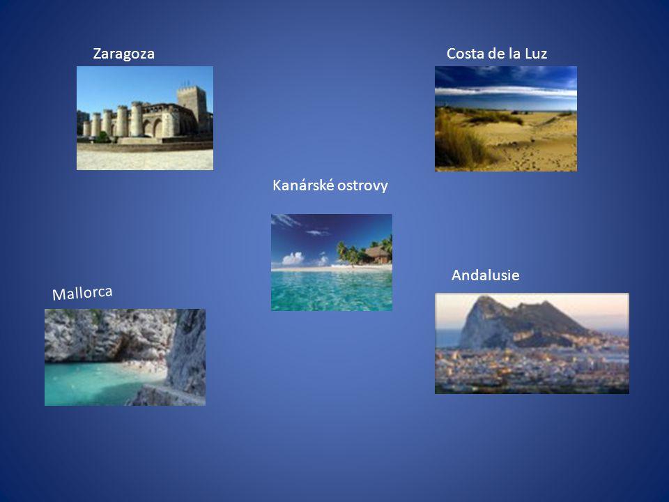 ZaragozaCosta de la Luz Mallorca Andalusie Kanárské ostrovy