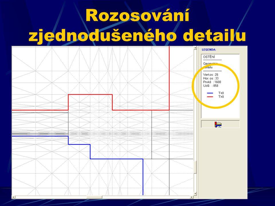 Rozosování zjednodušeného detailu z katalogu programu