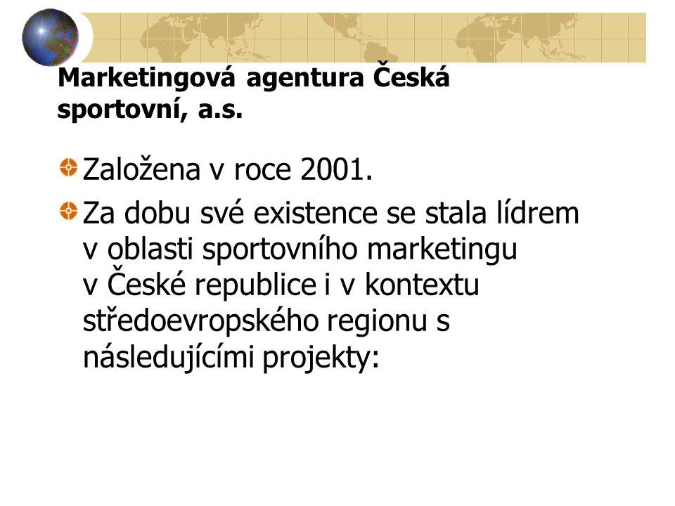 Marketingová agentura Česká sportovní, a.s. Založena v roce 2001.