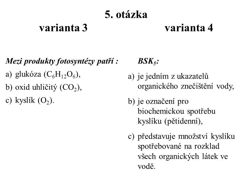 4. otázka varianta 3 varianta 4 Kulturní krajina je charakteristická: a)změněnou strukturou a funkcí díky lidské činnosti, b)vysokou hladinou hluku z