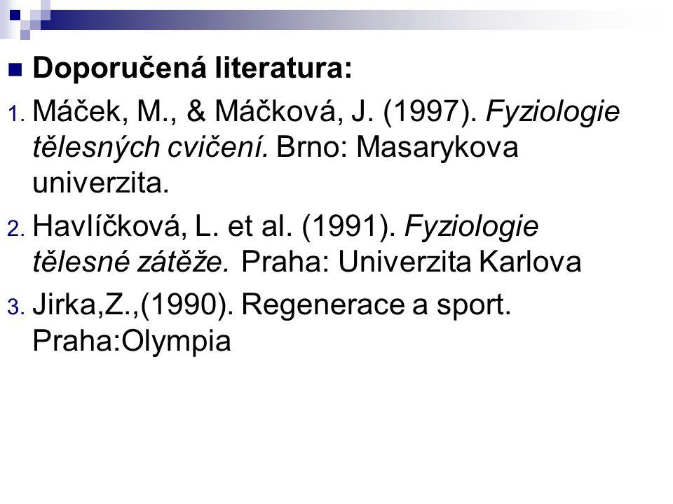 Regenerace ve sportu MUDr.Kateřina Kapounková