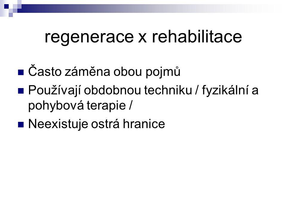 Zotavení / regenerace / = biologický proces obnovy přechodného poklesu funkčních schopností organismu formy regenerace : pasivní r./ činnost organismu