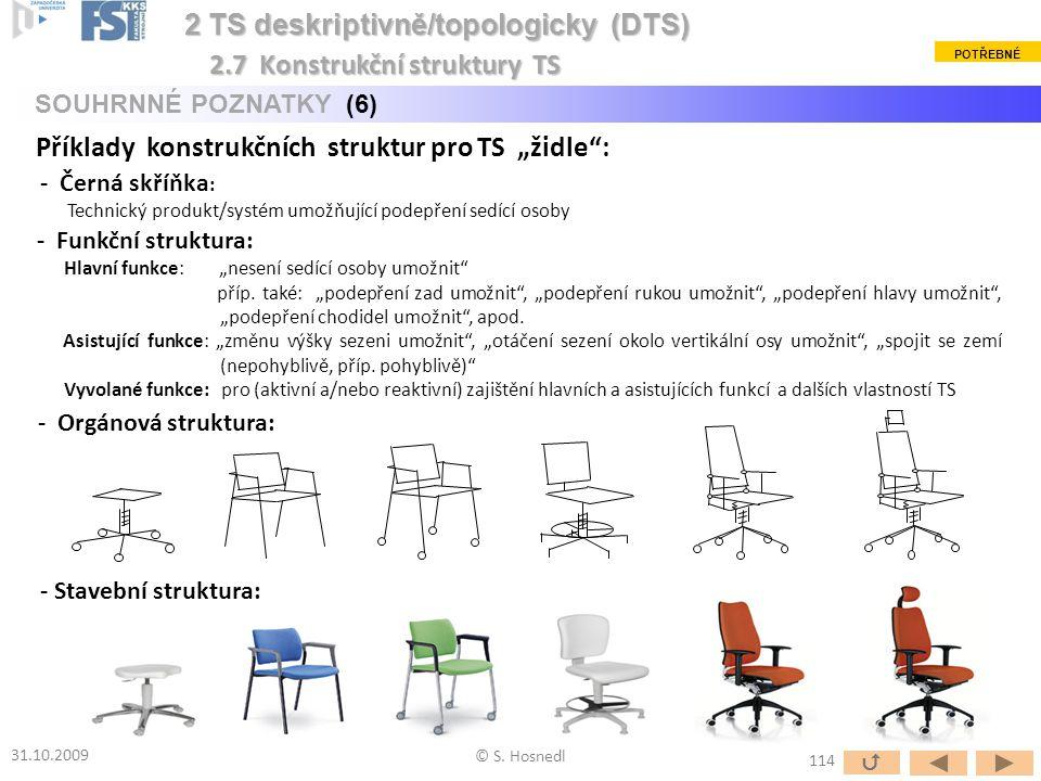 """- Funkční struktura: Hlavní funkce: """"nesení sedící osoby umožnit"""" příp. také: """"podepření zad umožnit"""", """"podepření rukou umožnit"""", """"podepření hlavy umo"""