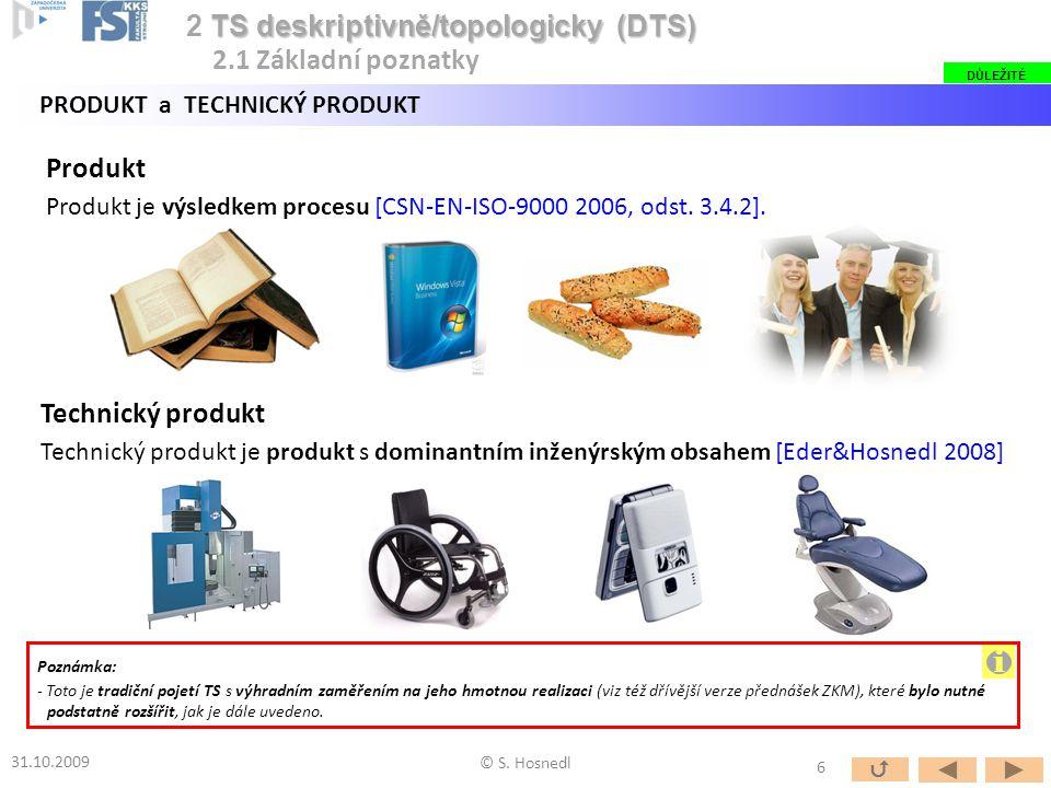 Produkt Produkt je výsledkem procesu [CSN-EN-ISO-9000 2006, odst. 3.4.2]. Technický produkt Technický produkt je produkt s dominantním inženýrským obs