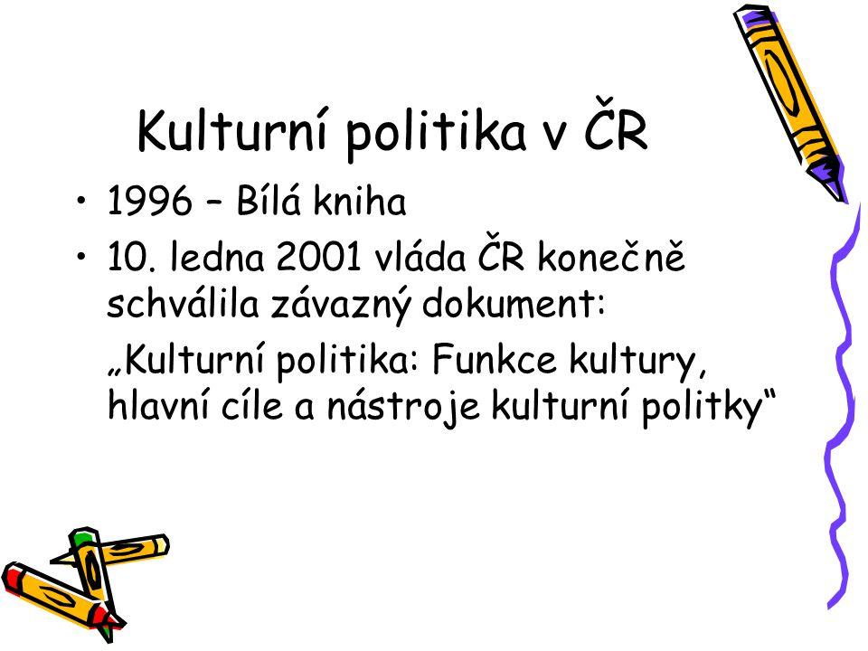 Kulturní politika v ČR 1996 – Bílá kniha 10.