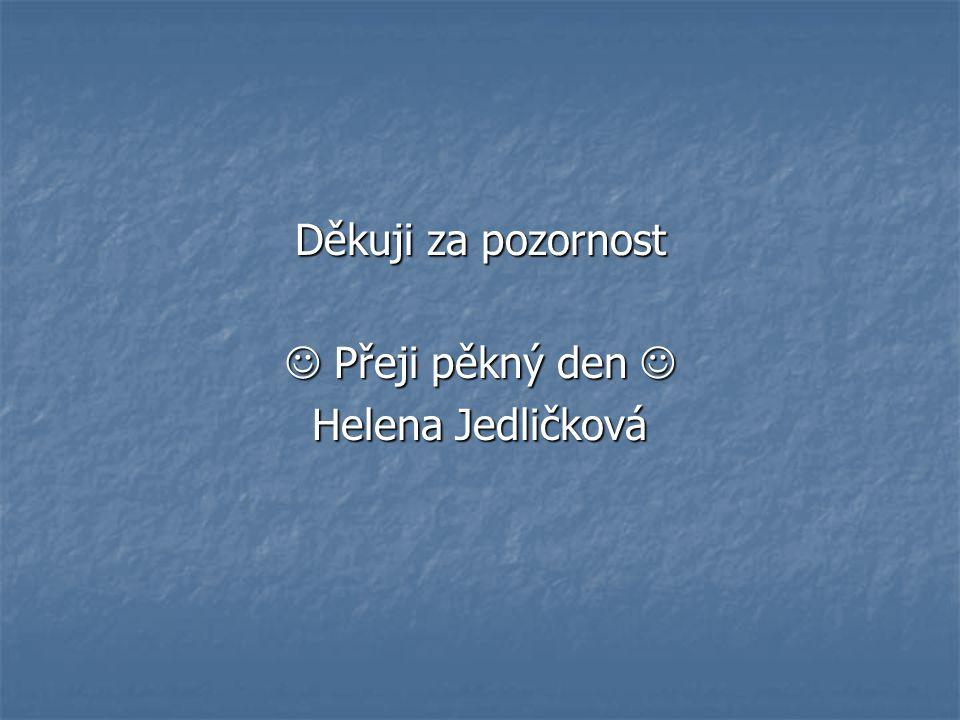 Děkuji za pozornost Přeji pěkný den Přeji pěkný den Helena Jedličková