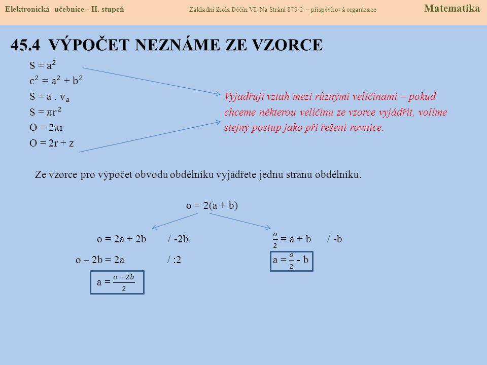 45.5 PROCVIČENÍ A PŘÍKLADY Elektronická učebnice - II.