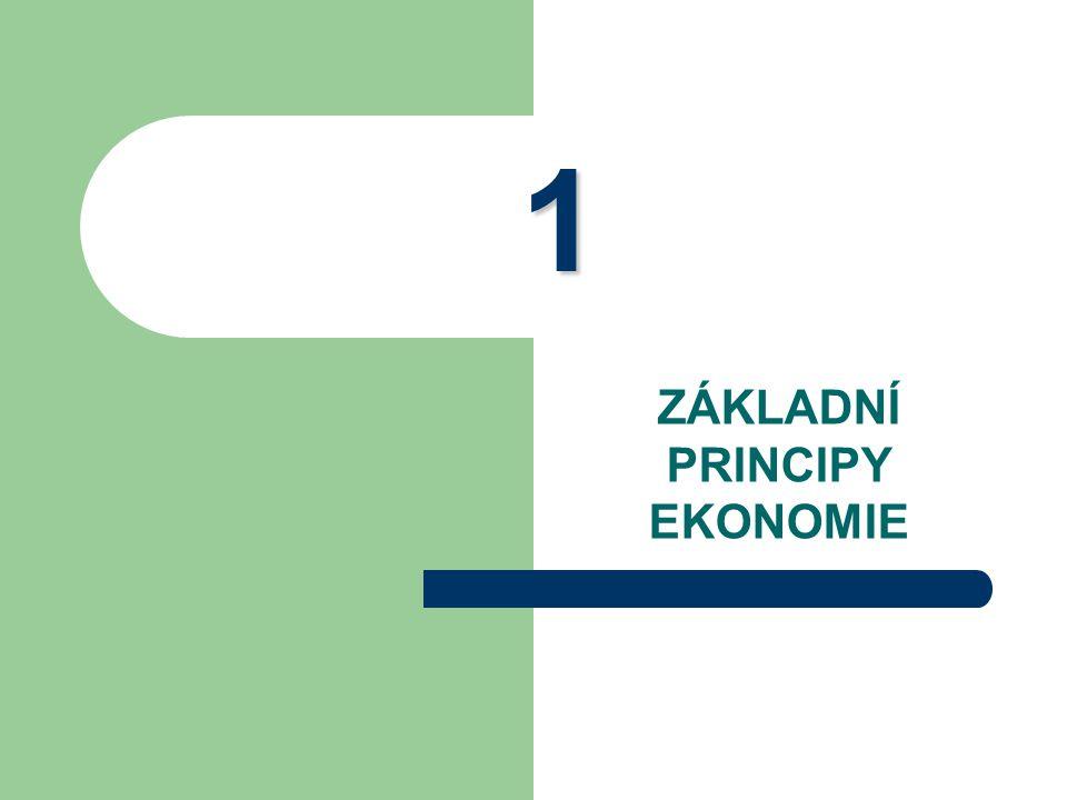 """Základy ekonomie 3 Ekonomie z řeckého """"ten, kdo spravuje domácnost = věda zkoumající, jak společnost obhospodařuje své vzácné zdroje X ekonomika základní principy..."""