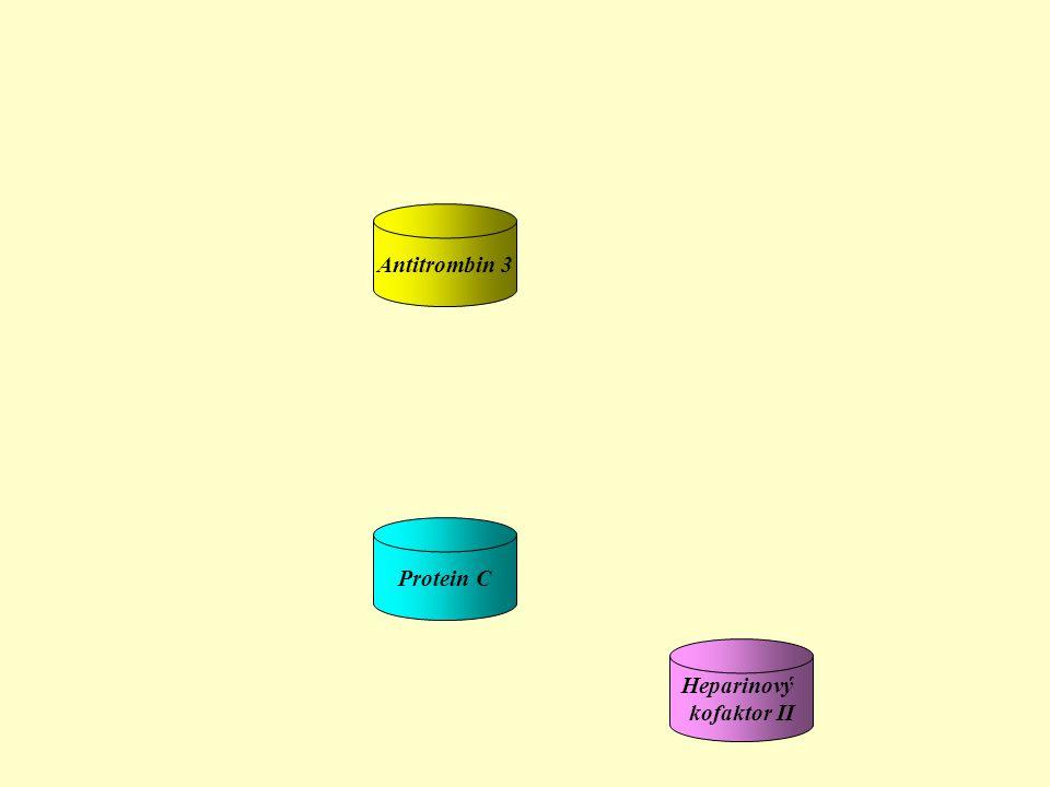 Heparinový kofaktor II Antitrombin 3 Protein C