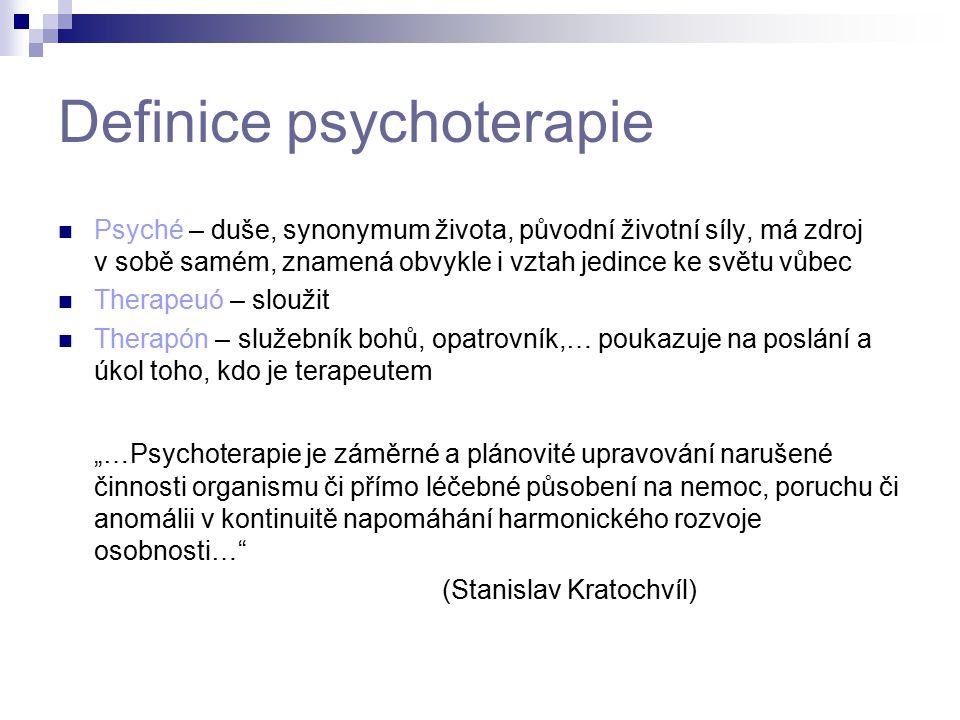 Definice psychoterapie Psyché – duše, synonymum života, původní životní síly, má zdroj v sobě samém, znamená obvykle i vztah jedince ke světu vůbec Th
