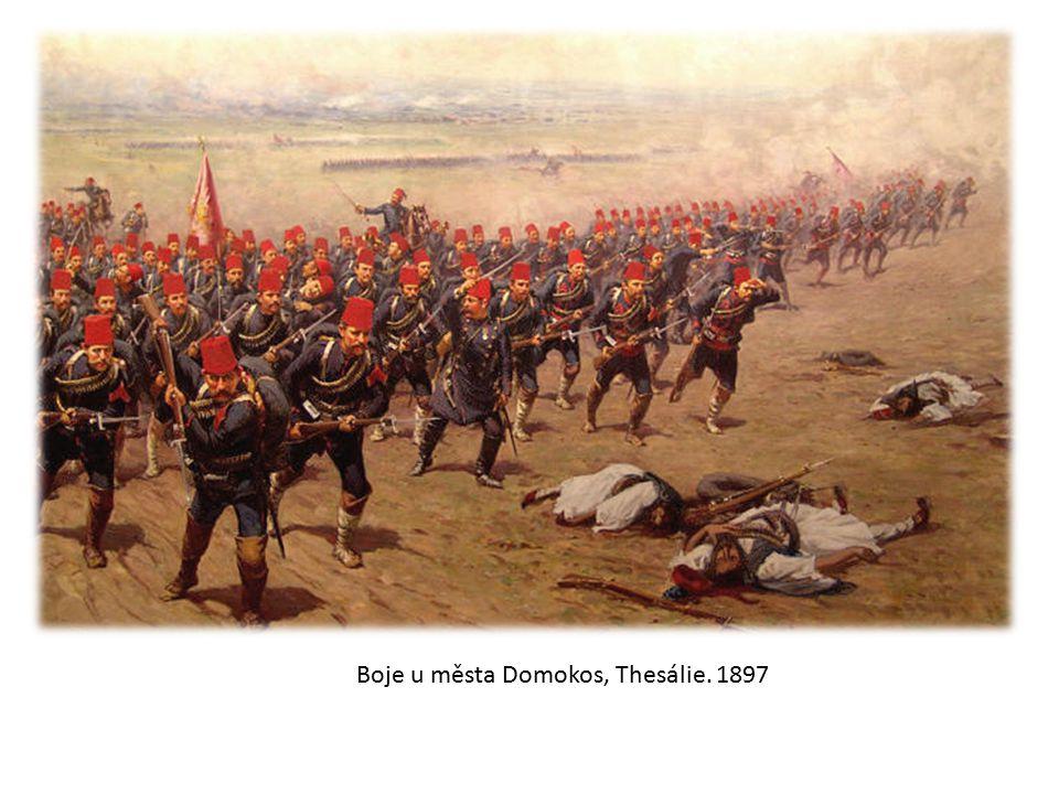 Boje u města Domokos, Thesálie. 1897