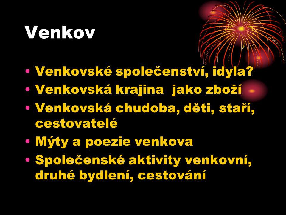Venkov Venkovské společenství, idyla.