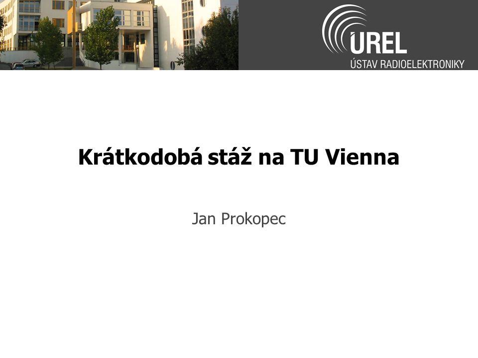 Krátkodobá stáž na TU Vienna Jan Prokopec
