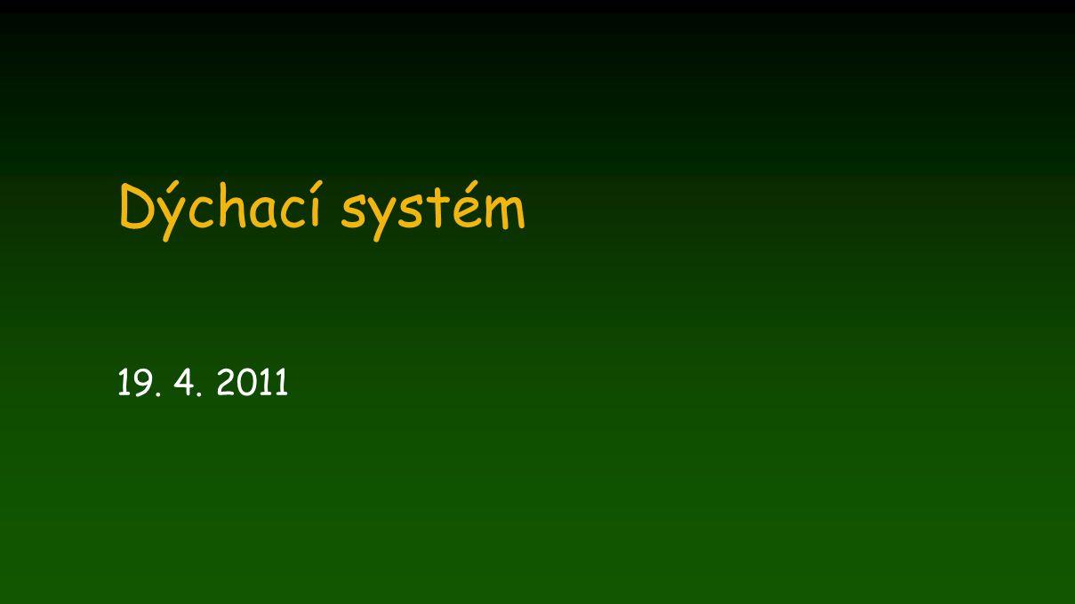 Obranné mechanismy respiračního traktu I.