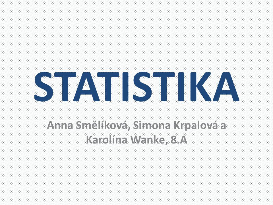 STATISTIKA Anna Smělíková, Simona Krpalová a Karolína Wanke, 8.A