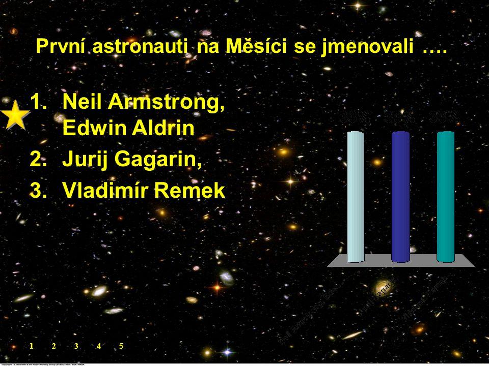 První astronauti na Měsíci se jmenovali …..