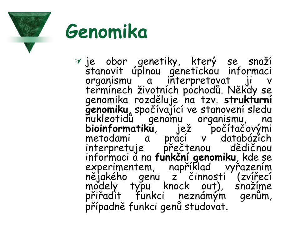 Genomika  je obor genetiky, který se snaží stanovit úplnou genetickou informaci organismu a interpretovat ji v termínech životních pochodů. Někdy se