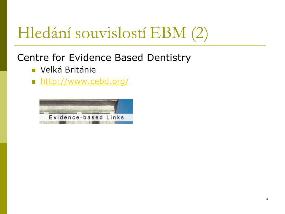 40 Pokročilé vyhledávání (6) Vepíšeme: dental decay*; operátor OR