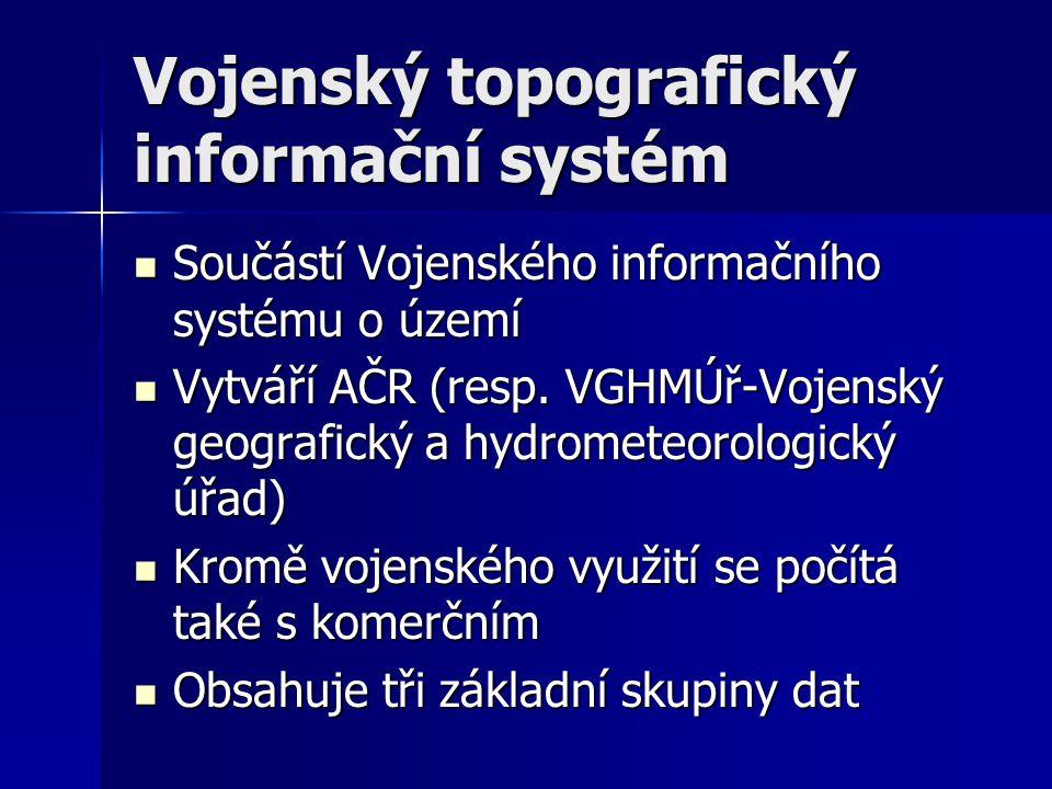 Základní kategorie 1.digitální model území v měřítku 1: 200 000 ( DMÚ200).