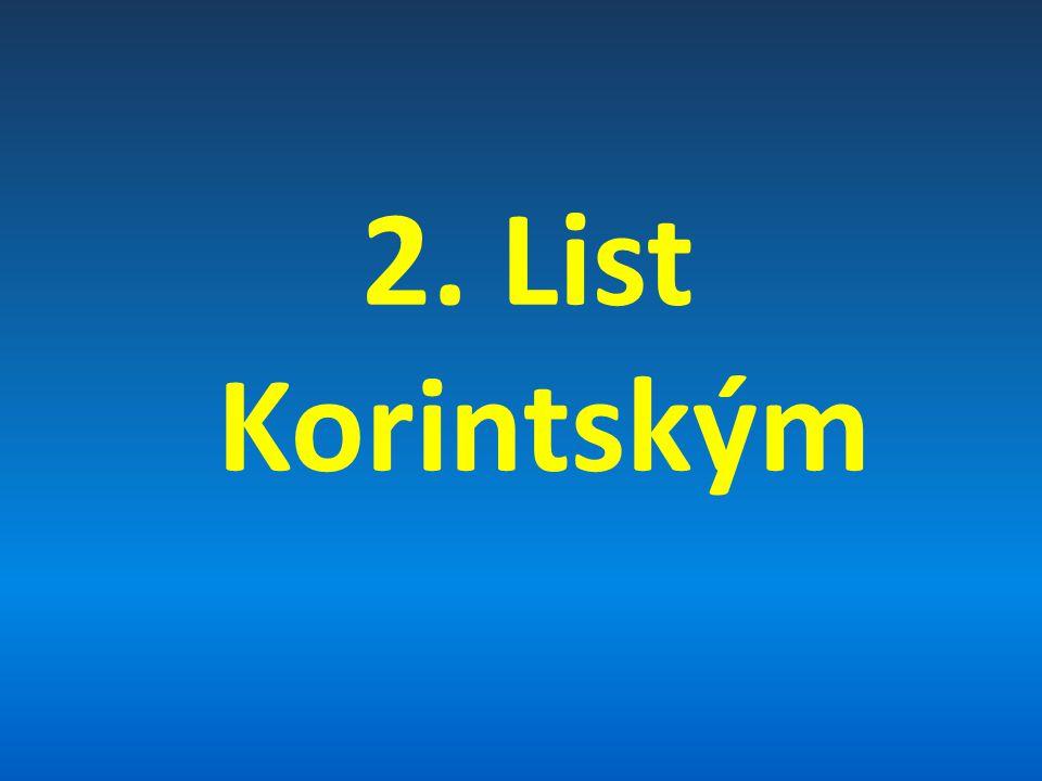 2. List Korintským