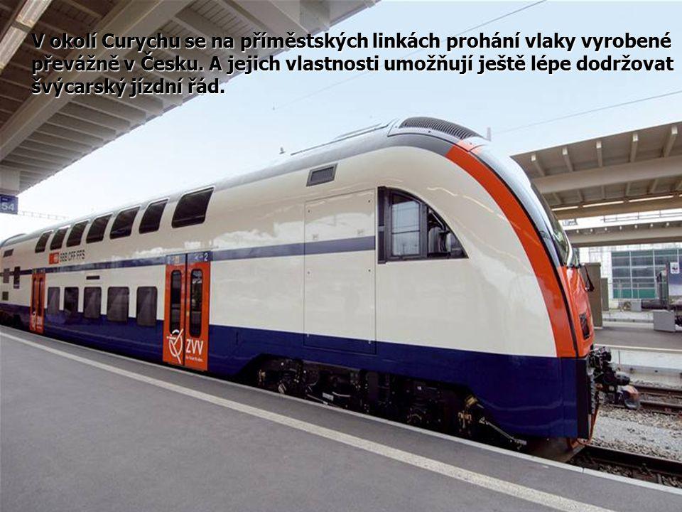 V okolí Curychu se na příměstských linkách prohání vlaky vyrobené převážně v Česku.