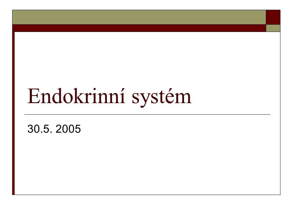 Endokrinní systém 30.5. 2005