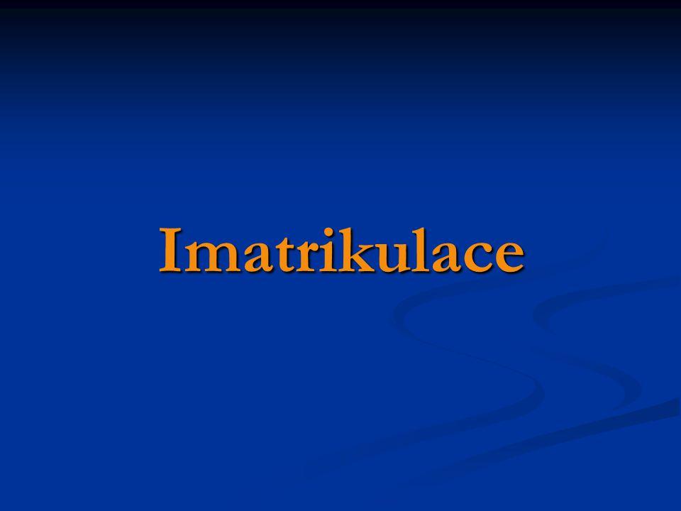 Imatrikulace