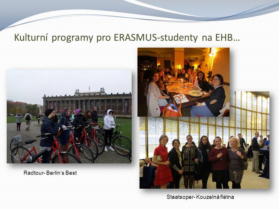 Kulturní programy pro ERASMUS-studenty na EHB… Adventní koncert v evangelickém kostele Společné rozloučení před odjezdem domů…