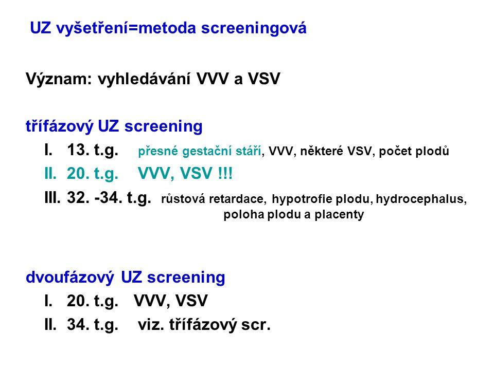 UZ markery chromosomových aberací hypotrofie plodu19%+13,+18,- X, 3n anomálie moč.