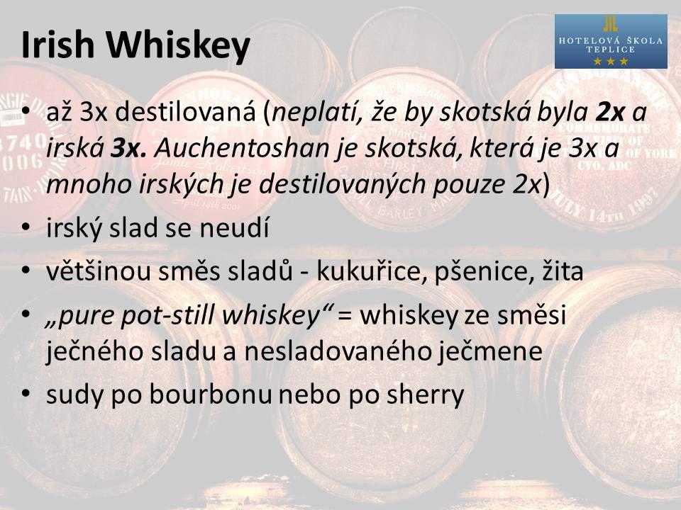 Irish Whiskey až 3x destilovaná (neplatí, že by skotská byla 2x a irská 3x.