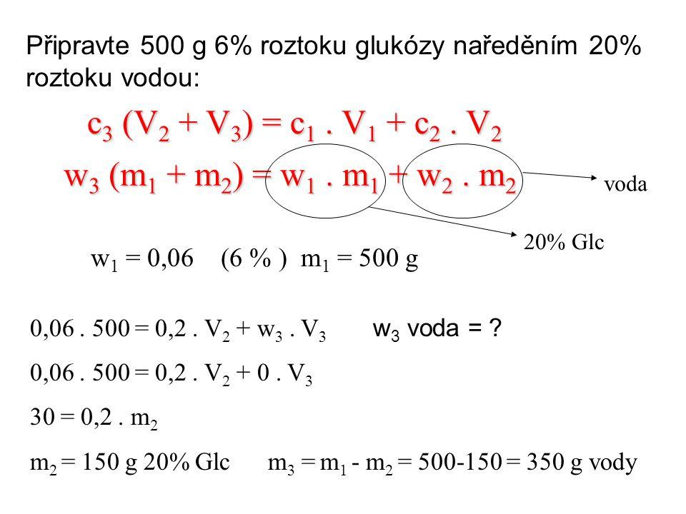 Kolik g KI pro přípravu 20 g 2% roztoku.