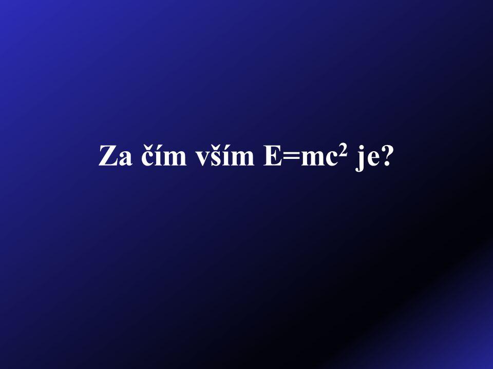 Za čím vším E=mc 2 je?