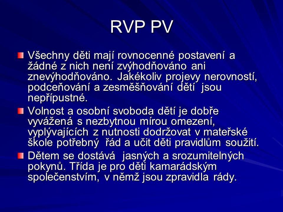 RVP PV Pedagogický styl, resp.