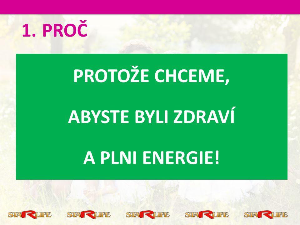 PROTOŽE CHCEME, ABYSTE BYLI ZDRAVÍ A PLNI ENERGIE! 1.PROČ