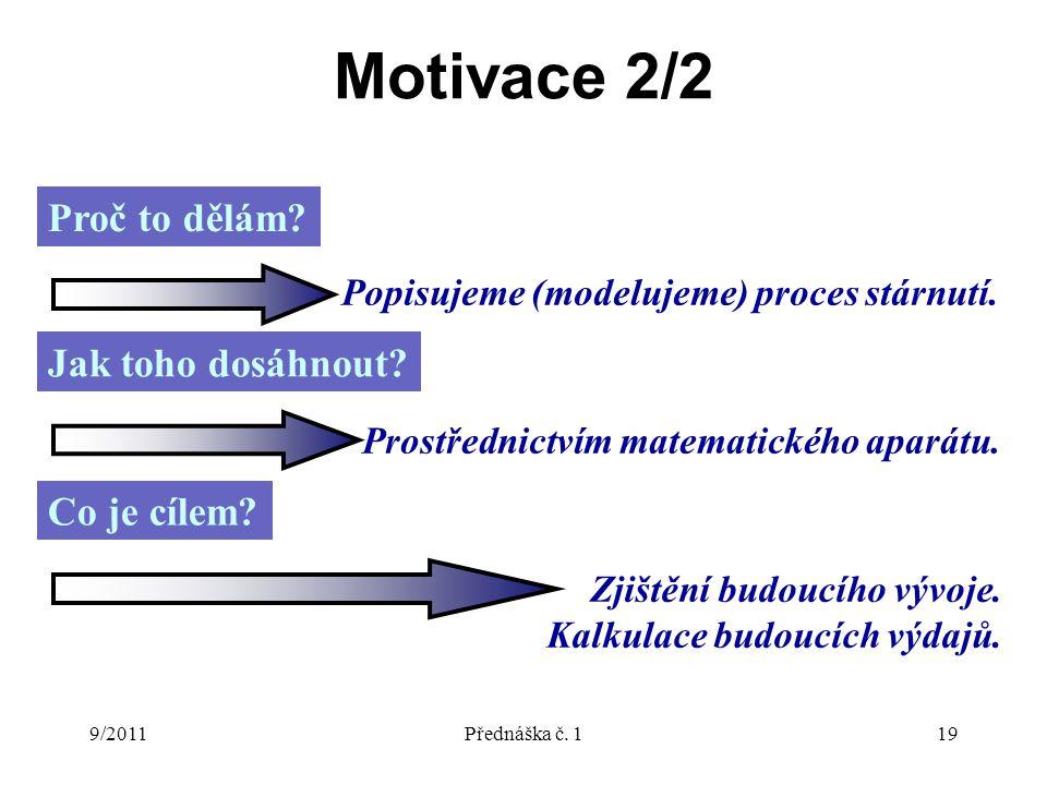9/2011Přednáška č. 119 Motivace 2/2 Proč to dělám.