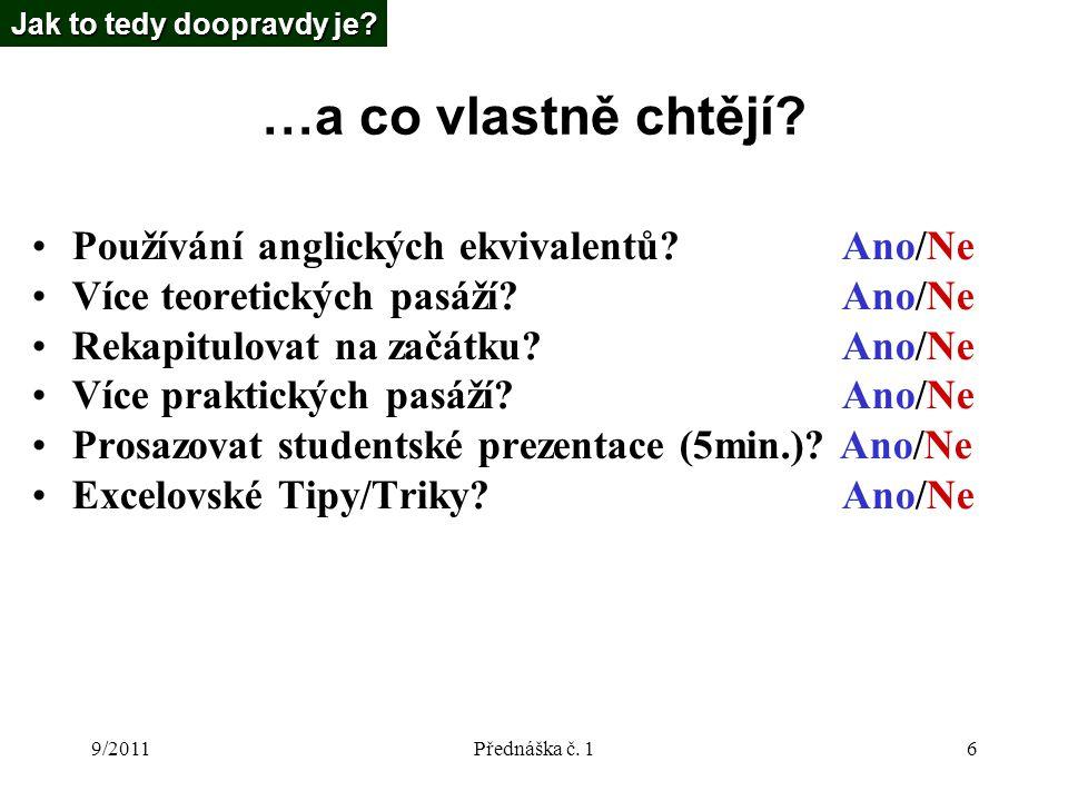 9/2011Přednáška č.