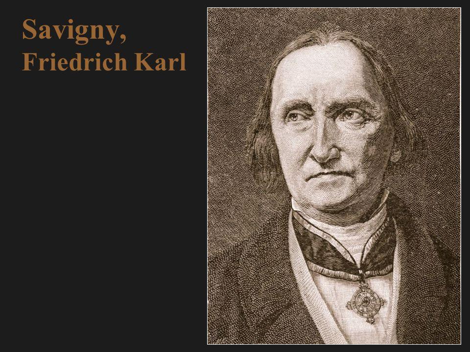 Savigny, Friedrich Karl