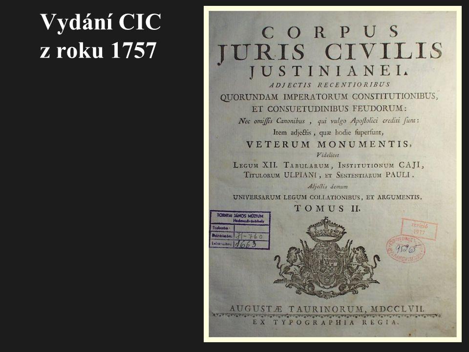 Vydání CIC z roku 1757