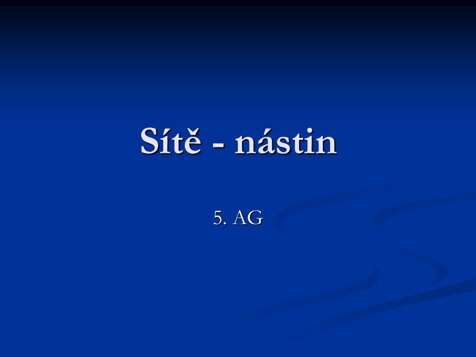 Sítě - nástin 5. AG