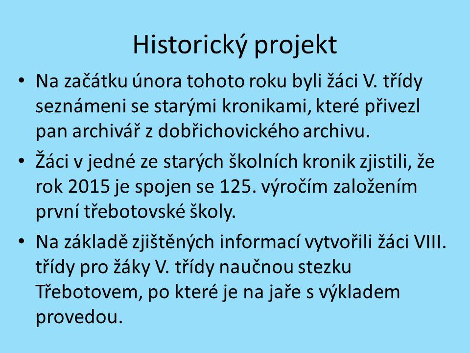 Historický projekt Na začátku února tohoto roku byli žáci V.