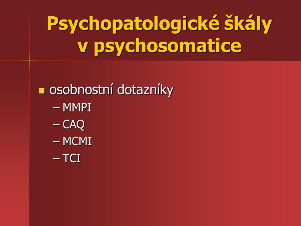 Specifické rysy psychosomatické dif.