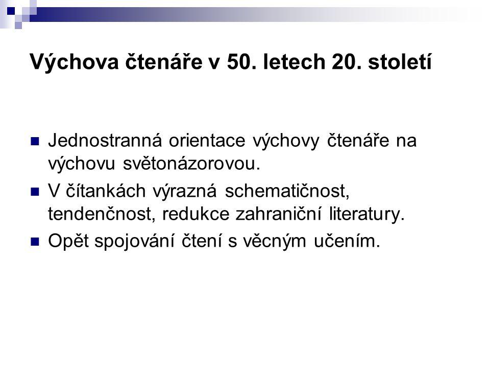 Výchova čtenáře v 50. letech 20.