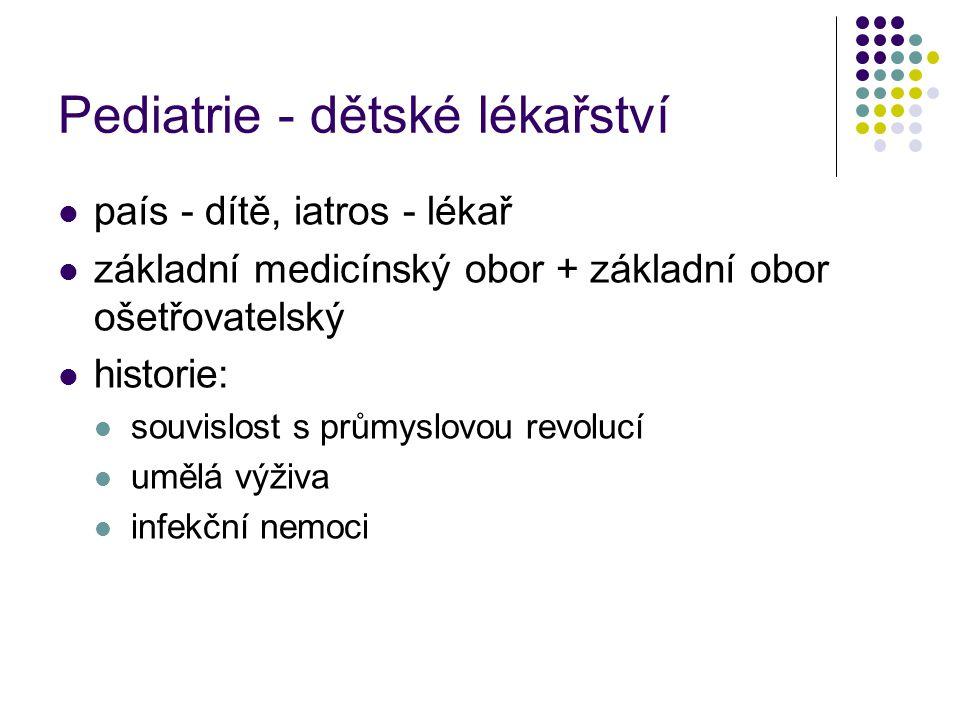 Péče o dítě Kojenecká úmrtnost v ČR 1923 14,7 %2001 4,0 o/oo příčiny infekční onemocnění perinatální poškození, VVV, onem.