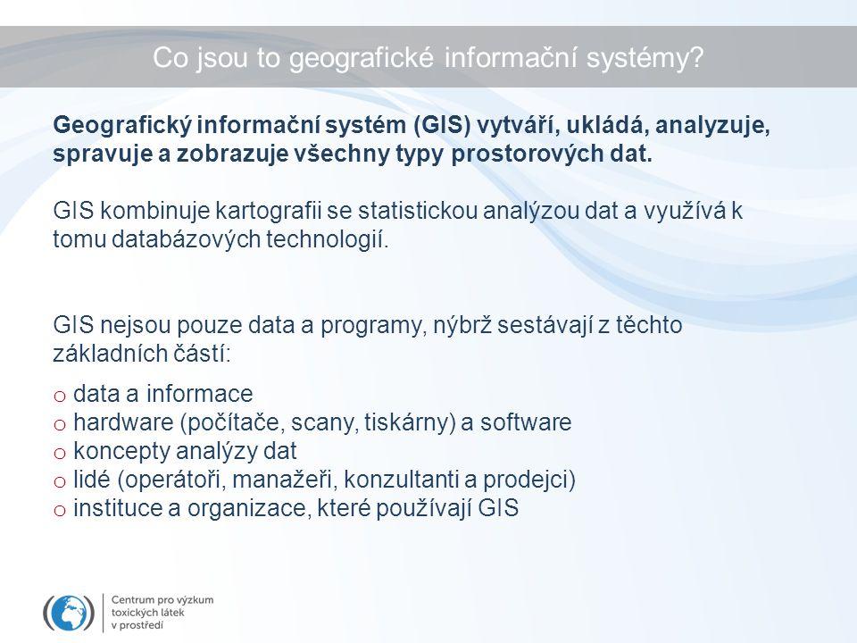 Co jsou to geografické informační systémy.