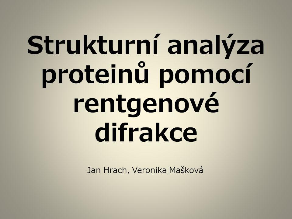 Strukturní analýza proteinů pomocí rentgenové difrakce Jan Hrach, Veronika Mašková