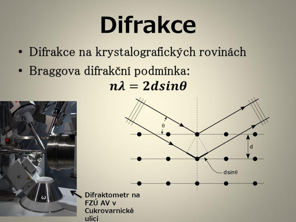 Difrakce Difraktometr na FZÚ AV v Cukrovarnické ulici   