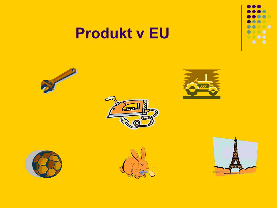 adaptace produktu na trzích EU: spotřební zboží suroviny odlišnosti v potřebách zákazníků odlišnosti v podmínkách používání a spotřeby – vzorce kupního a spotřebního chování (Schweppes tonic water – jako nealko nápoj ve francii, jako základ pro míchané alkoholické nápoje ve Velké Británii) odlišnosti v koupěschopnosti (prací prášky Henkel) odlišnosti v technických standardech odlišnosti v legislativních požadavcích, národních regulacích silné kulturní odlišnosti působící na koupi a užití…..
