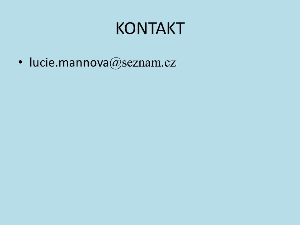 KONTAKT lucie.mannova @seznam.cz